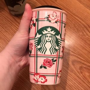 Bando /Starbucks rose to go mug!